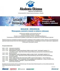 Akademia Okienna - zaproszenie