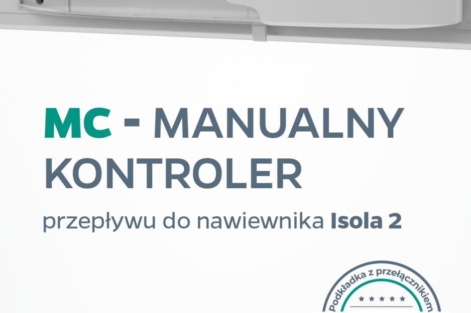 manualny kontroler przepływu do nawiewnika Isola2